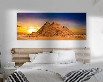 De grote piramides van Gizeh van Günter Albers