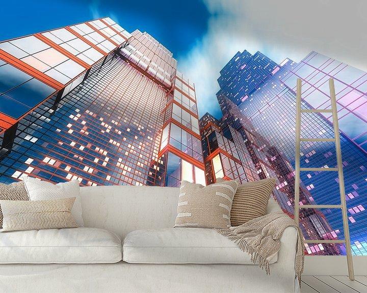 Beispiel fototapete: Q-City 11 von Max Steinwald
