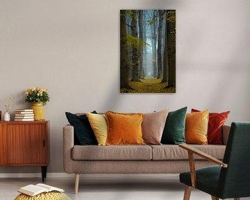 Geel tapijt van Martin Podt