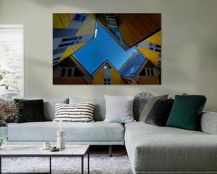 Sfeerimpressie: Rotterdamse Kubussen van Leo Luijten