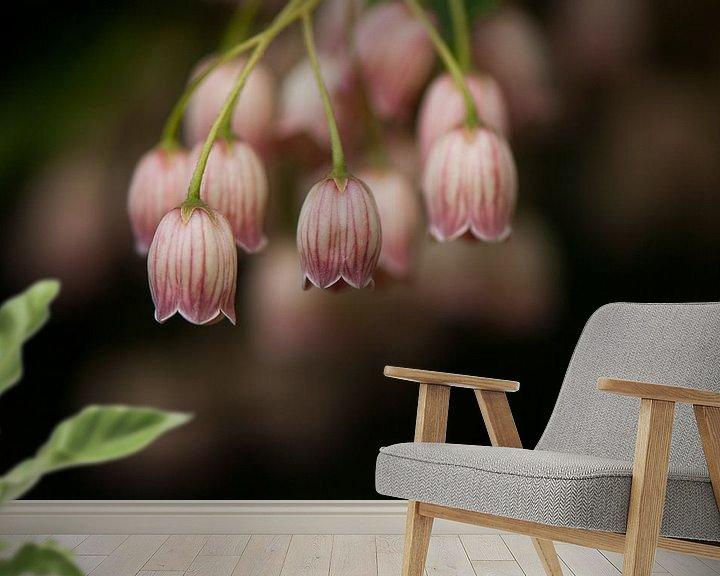 Sfeerimpressie behang: Het Pronkklokje bloeit prachtig in het voorjaar van Margo Schoote