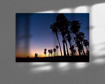Zonsondergang Venice Beach van Lonneke Heijmans