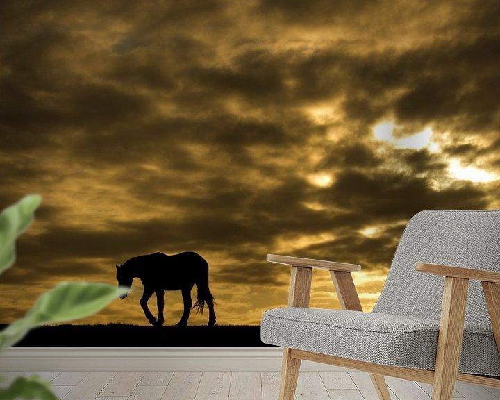 Sfeerimpressie behang: Horse van Anne Koop