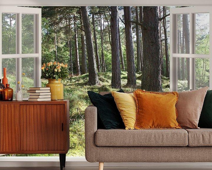 Sfeerimpressie behang: Forrest view van Co Seijn