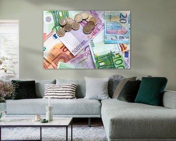 Billets et pièces en euros - le motif parfait pour chaque banque ! sur Christian Feldhaar