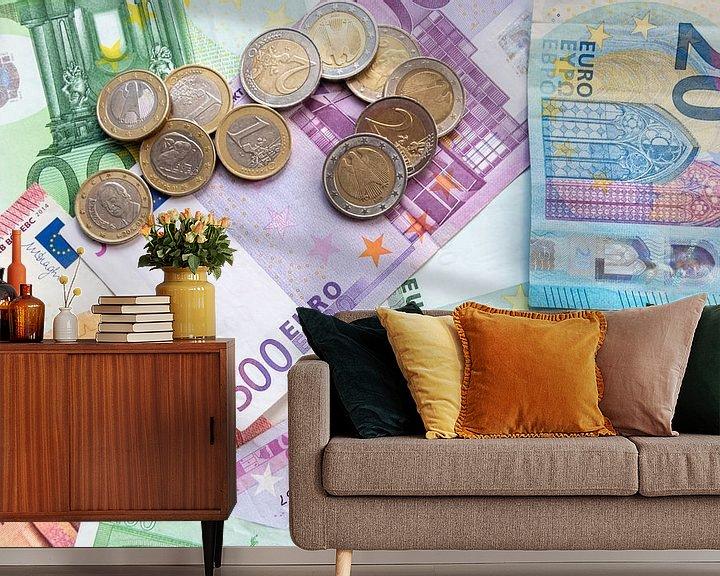 Beispiel fototapete: Euro-Geldscheine und Euro-Münzen - das perfekte Motiv für jede Bank! von Christian Feldhaar