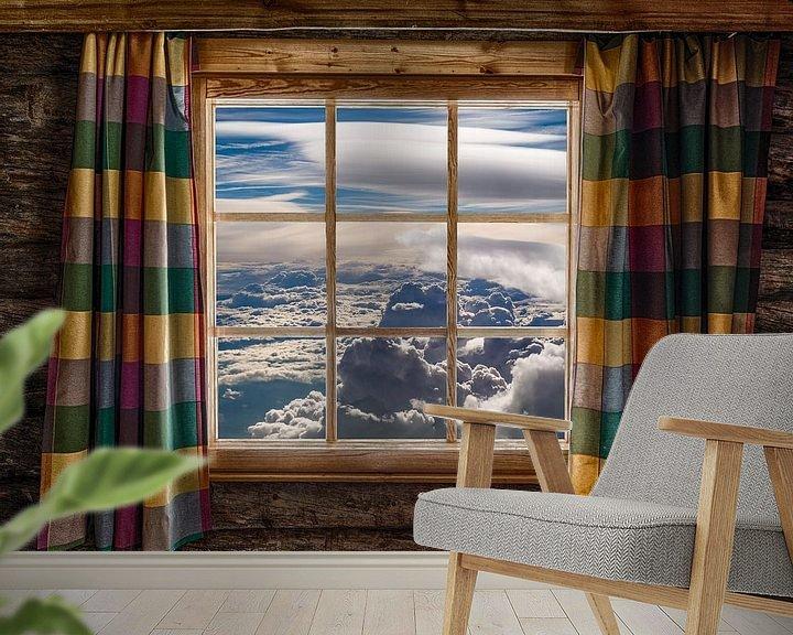 Sfeerimpressie behang: Wakker worden boven de wolken van Denis Feiner