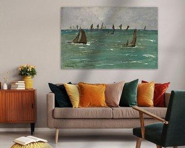 Bateaux à Berck-sur-Mer, Edouard Manet