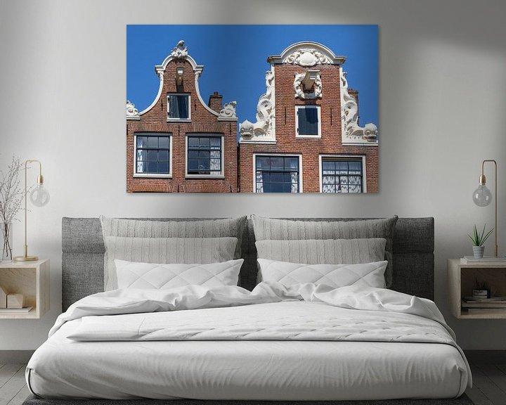 Sfeerimpressie: Typische Amsterdamse Gevels van Jan van Dasler