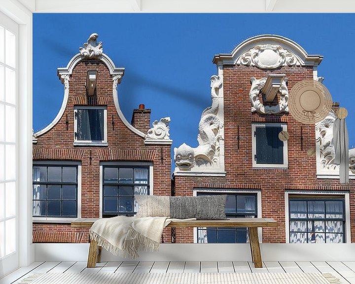 Sfeerimpressie behang: Typische Amsterdamse Gevels van Jan van Dasler