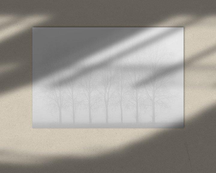 Beispiel: Silhouetten im Nebel. von Rik Verslype