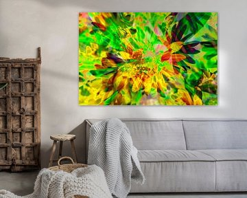 Sonnenhut Blumen abstrakt von Torsten Krüger
