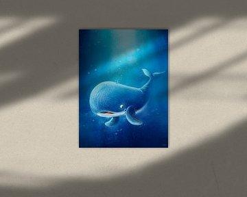 süßer blauer Wal von Stefan Lohr