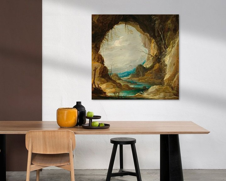 Beispiel: Blick aus einer Grotte, David Teniers II