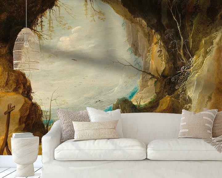 Beispiel fototapete: Blick aus einer Grotte, David Teniers II
