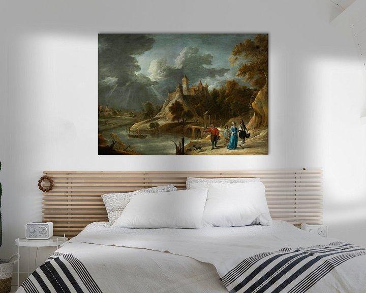 Beispiel: Landschaft mit einem Schloss und promenierenden Grundbesitzern, David Teniers II