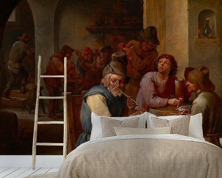 Beispiel fototapete: Der Country-Pub, David Teniers II