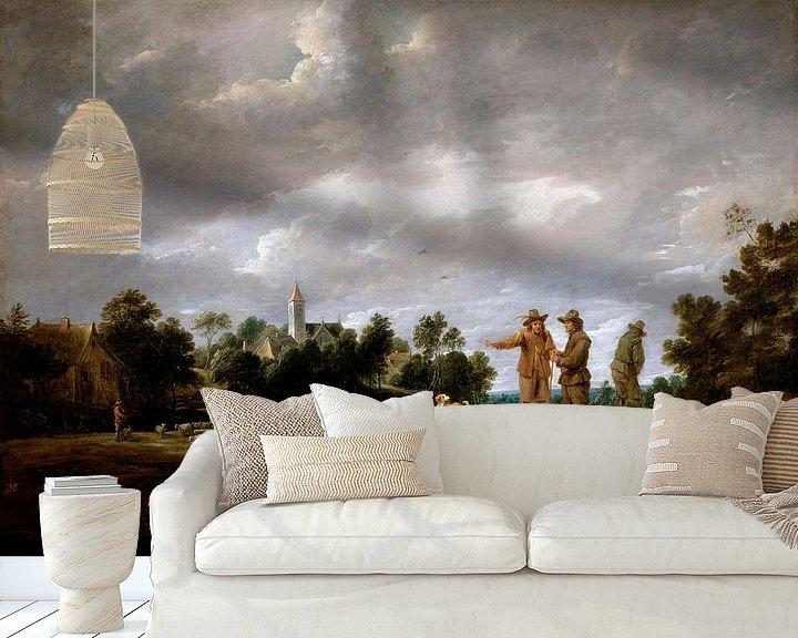 Beispiel fototapete: Bauern im Gespräch, David Teniers II