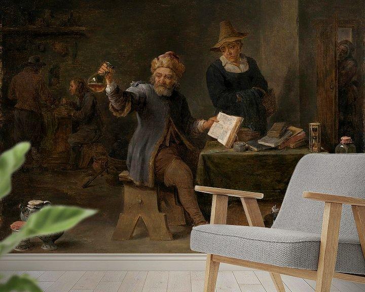 Beispiel fototapete: Der Dorfarzt, David Teniers II