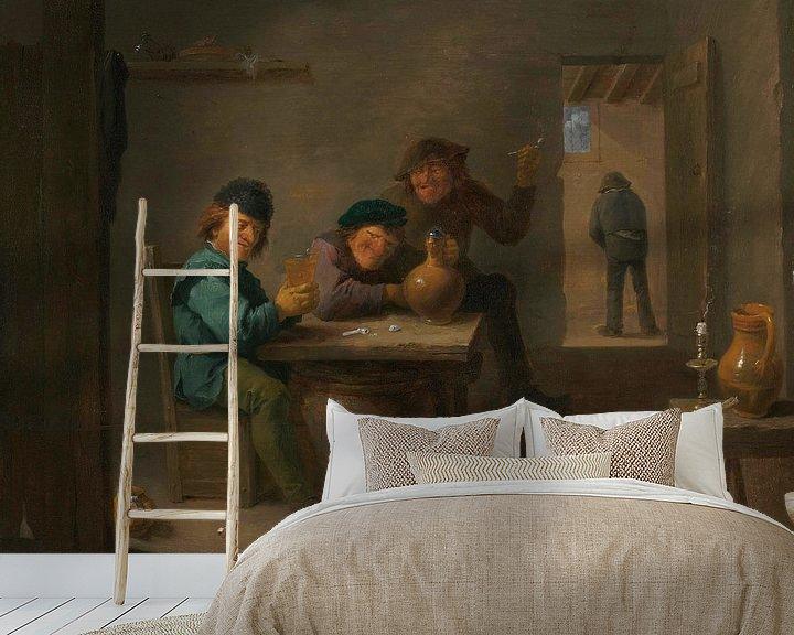 Beispiel fototapete: Bauern in einer Taverne, David Teniers II