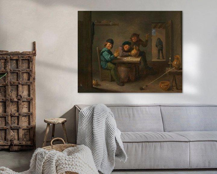 Beispiel: Bauern in einer Taverne, David Teniers II