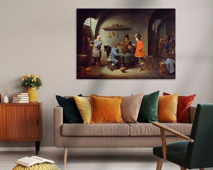 Beispiel: Glücksspielszene in einem Gasthaus, David Teniers II