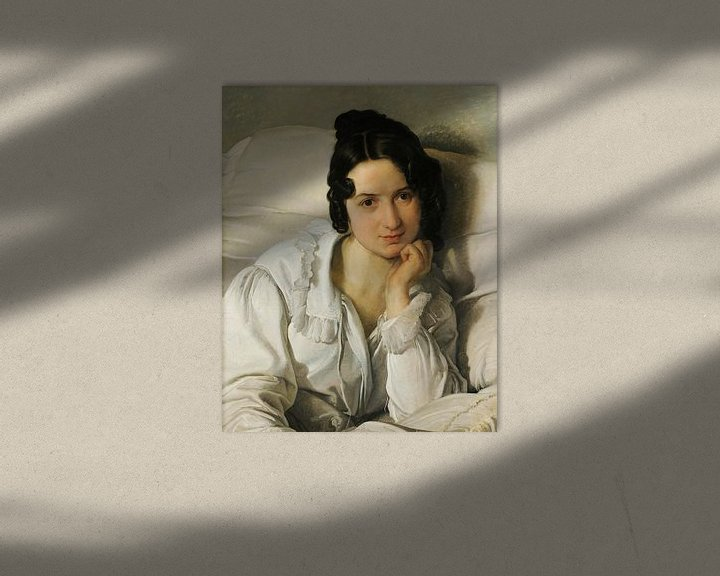 Sfeerimpressie: Portret van Carolina Zucchi, Francesco Hayez