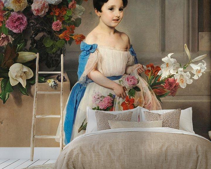 Beispiel fototapete: Porträt der Gräfin Antonietta Negroni Prati Morosini als Kind, Francesco Hayez