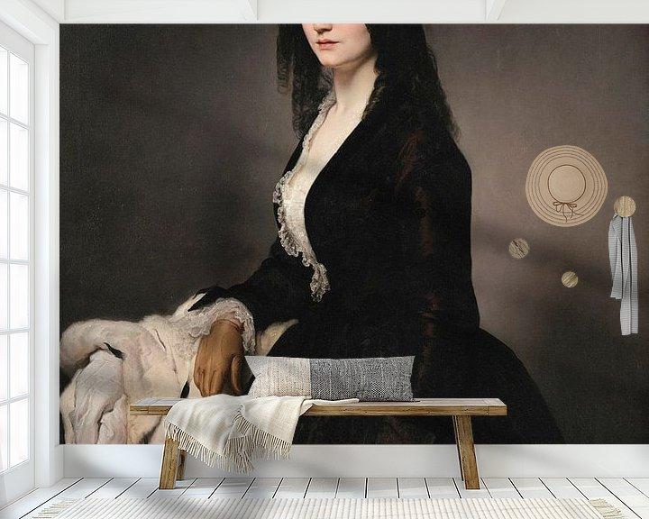 Beispiel fototapete: Porträt der Sängerin Matilde Juva Branca, Francesco Hayez