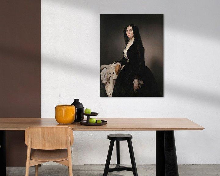 Beispiel: Porträt der Sängerin Matilde Juva Branca, Francesco Hayez