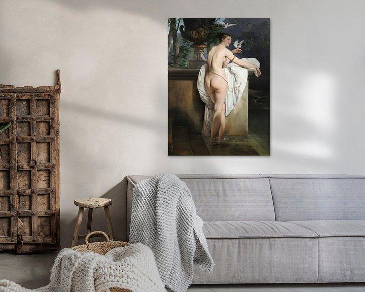 Sfeerimpressie: Venusgrap met twee duiven (Portret van de danseres Carlotta Chabert), Francesco Hayez