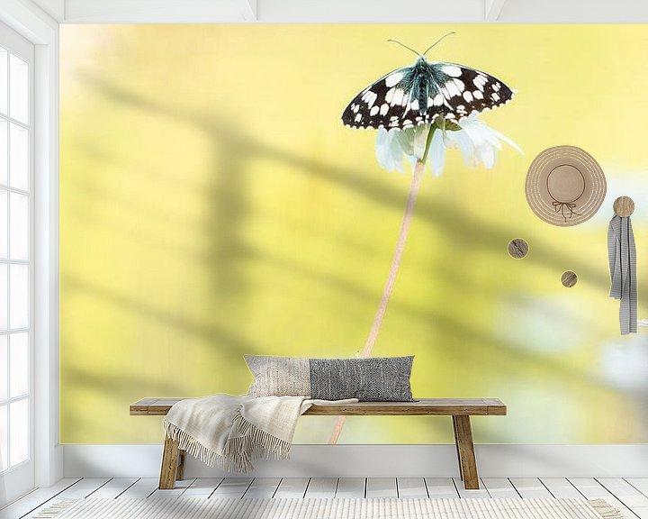 Sfeerimpressie behang: dambordje van Ria Bloemendaal