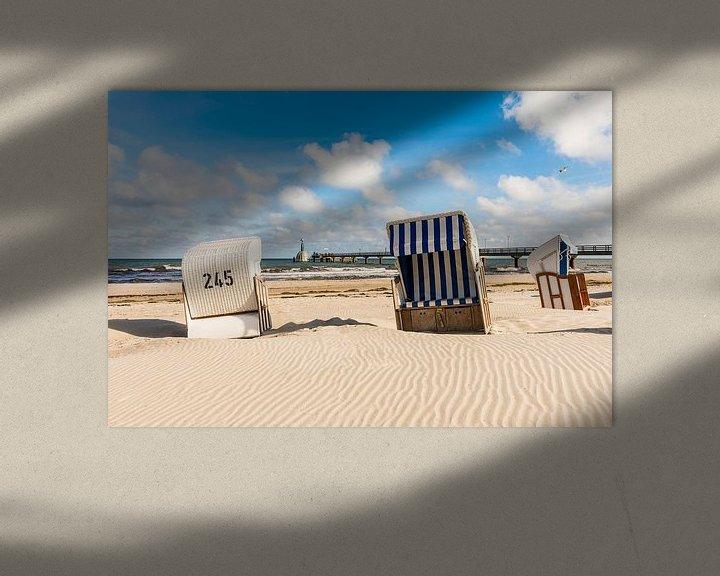 Beispiel: Strandkörbe am Strand von Zingst von Werner Dieterich