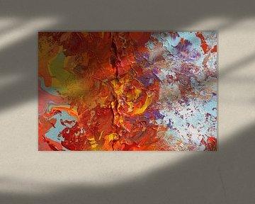 Burning sky 1 van Toekie -Art