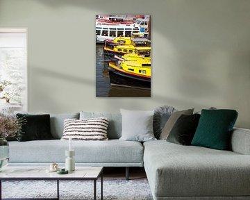 Binnenhafen, Gelbe Boote, Hamburg, Deutschland, Europa von Torsten Krüger