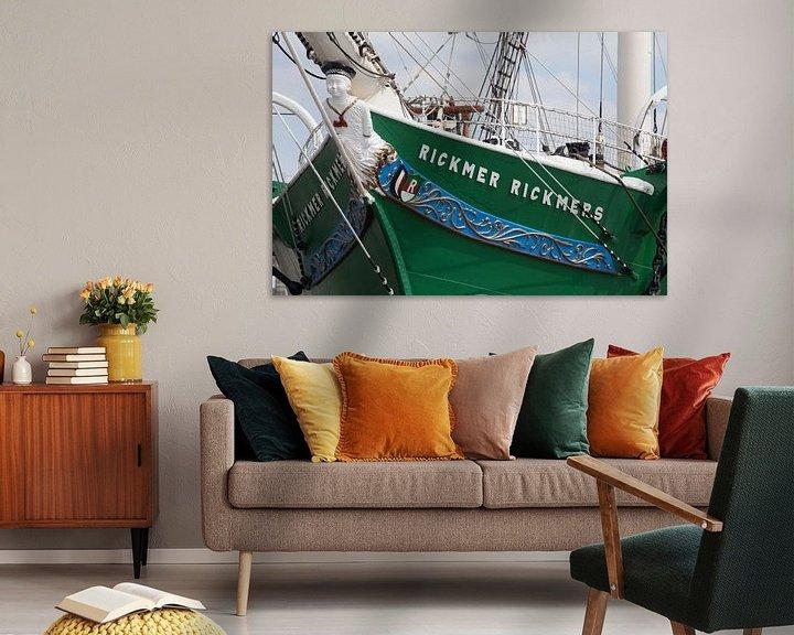 Sfeerimpressie: Boegbeeld van het zeilschip Rickmer Rickmers, Hamburg, Duitsland, Europa van Torsten Krüger