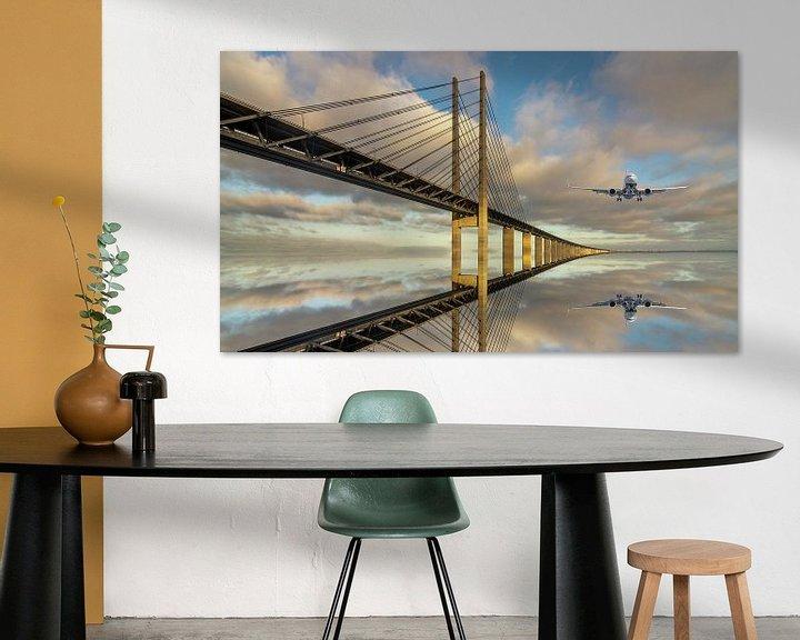 Impression: Un pont sur la mer sur Robert Stienstra