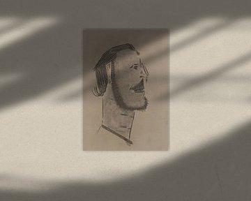 En profil portret, man van Wouter Springer