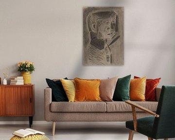 Surrealistisch en profil portret van Wouter Springer