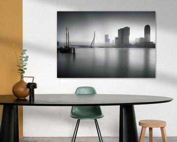 Mistige ochtend in Rotterdam