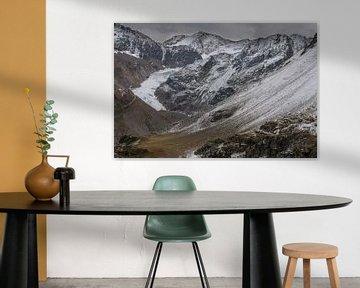 Vergezicht op een Gletsjer . van Rick Ermstrang