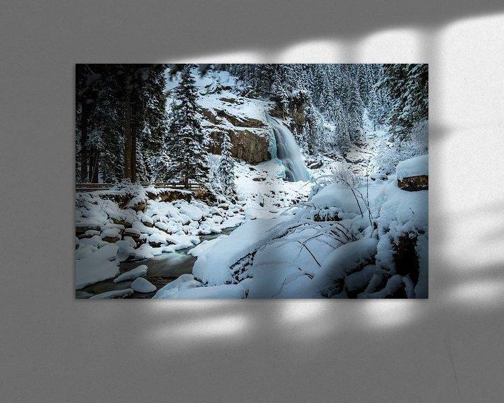 Sfeerimpressie: Waterval in de winter van Durk-jan Veenstra