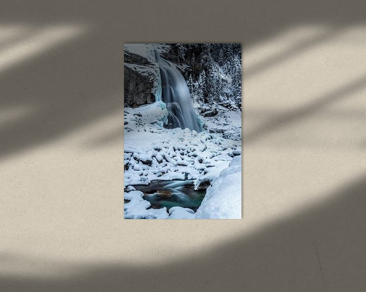 Sfeerimpressie: Waterval in de sneeuw van Durk-jan Veenstra