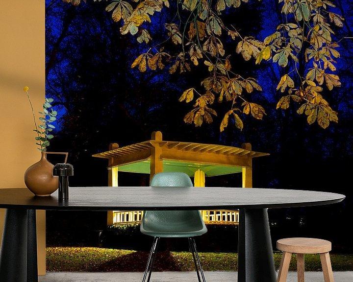 Sfeerimpressie behang: Muziekkoepel Noorderplantsoen van robert wierenga