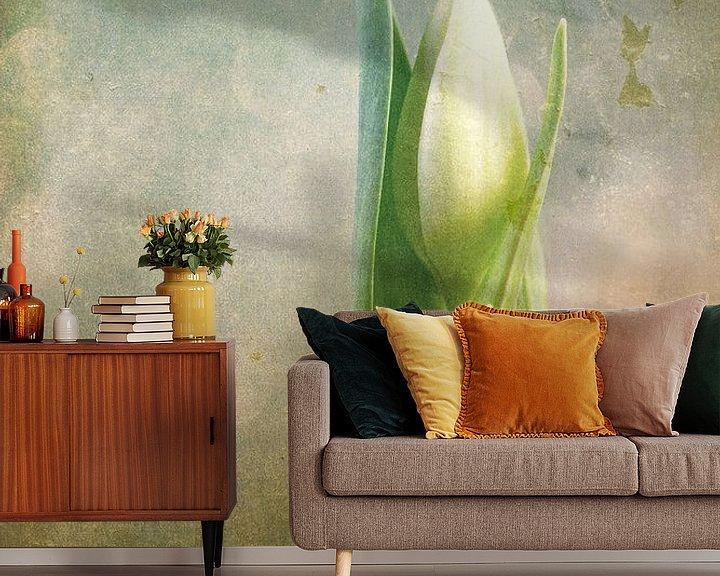 Sfeerimpressie behang: tulp fantasy van hanny bosveld