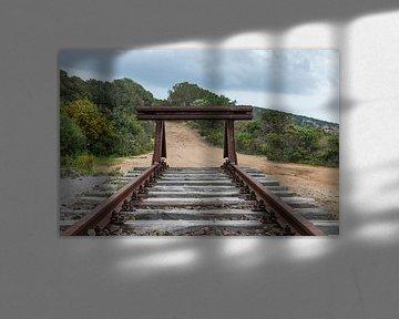 tampon ferroviaire sur l'île de Sardaigne
