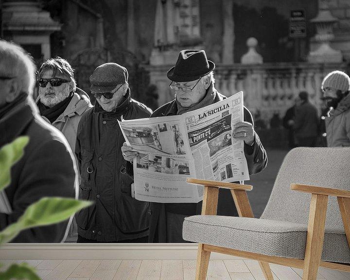 Beispiel fototapete: La Sicilia, die Zeitung von Renske Spijkers