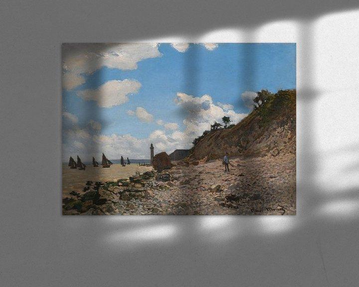 Beispiel: Der Strand von Honfleur, Claude Monet