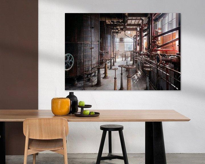 Sfeerimpressie: Verlaten Industrie. van Roman Robroek