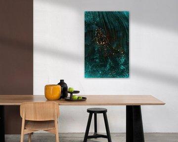 Aqua, abstract van Yana Spiridonova